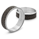 Chilewich Espresso Basketweave Napkin Ring