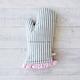 Gray & Pink Dot Vintage-Inspired Oven Mitt