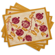 Couleur Nature Pomegranate Printed Placemats, Set of 4