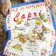 Capri Map Kitchen Towel