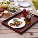 Dark Acacia Serving Tray, 19