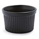 Revol Black Porcelain Soufflé Dish, 5.75 oz.
