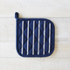 Blue Butcher Stripe Pot Holder