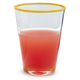 Sur La Table® Yellow-Rim Juice Glass