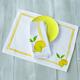 Lemon Printed Placemats, Set of 4