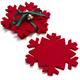 Snowflake Coasters, Set of 4