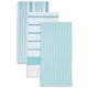 Seafoam Assorted Stripe Kitchen Towels, Set of 3