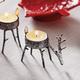 Grazing Reindeer Tealight Candle Holder
