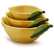 Lemon Prep Bowls, Set of 3