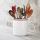 Sainte-Germaine Red Utensil Crock