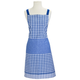 Checkered BBQ Apron, Blue