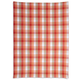Salmon Checkered Kitchen Towel