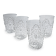 Clear Ruby Double Old Fashioned, Set of 4