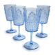 Light Blue Ruby Wine Glasses, Set of 4