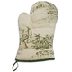 Sage French Toile Vintage-Inspired Oven Mitt