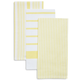 Yellow Assorted Stripe Kitchen Towels, Set of 3