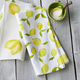 Lemon Printed Linen Kitchen Towel