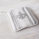 Gray Fleur De Lys Vintage-Inspired Pot Holder