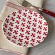 Fleur de Lys Red Appetizer Plate