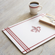 Fleur de Lys Cork-Backed Placemats, Set of 4