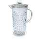 Clear Ruby Pitcher, 2½ qt.