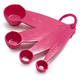 Pink Melamine Measuring Spoons, Set of 4