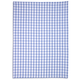 French Blue Small-Check Kitchen Towel, 28