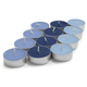 Assorted Blue Tealights, Set of 24