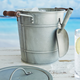 Sur La Table Galvanized Ice Bucket with Scoop
