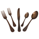 Rocco Brushed Chocolate 5-Piece Flatware Set
