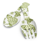 Light Green Hydrangea Servers, Set of Two