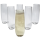 Outdoor Champagne Flutes, Set of 6