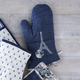 Blue Eiffel Tower Vintage-Inspired Oven Mitt