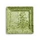 Green Hydrangea Square Appetizer Plate