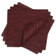 Chilewich Cranberry Square Bamboo Placemat