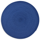 French Blue Round Woven Placemat