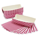 Paper Eskimo Pink and Dark Pink Strip Baking Loaf, Set of 8