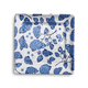 Light Blue Hydrangea Square Appetizer Plate