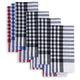Checkered BBQ Napkins, Set of 4