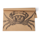 Crab on Kraft Paper Placemats, Set of 25