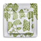 Light Green Hydrangea Square Plate