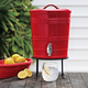 Red Ceramic Beverage Dispenser