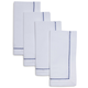 Blue Chainlink Napkins, Set of 4
