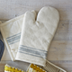 La Maison Gray French Stripe Oven Mitt