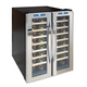 Vinotemp Dual-Zone Thermoelectric Mirrored Wine Cooler, 48 Bottle