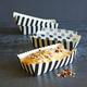 Paper Eskimo Black and White Stripe Baking Loaf, Set of 8