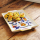 Deruta-Style Small Rectangular Tray with Handles