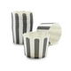Paper Eskimo Black and White Stripe Baking Cups, Set of 25