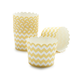 Paper Eskimo Yellow and White Chevron Baking Cups, Set of 25