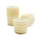 Paper Eskimo Yellow and White Chevron Baking Cups, Set of 25